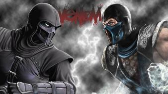 Mortal kombat noob saibot sub-zero venom clouds wallpaper