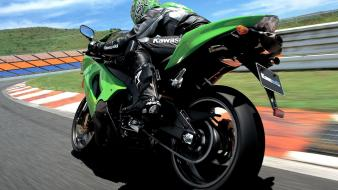 Motorbikes races kawasaki zx-10r wallpaper