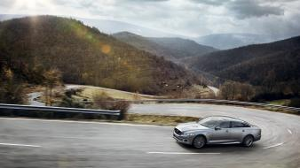 Mountains landscapes cars jaguar 2014 xjr wallpaper