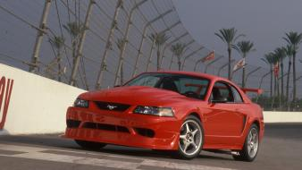 Mustang svt cobra r front angle view wallpaper