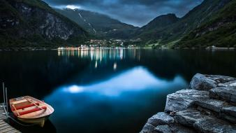 Nature norway lakes geiranger fjord wallpaper