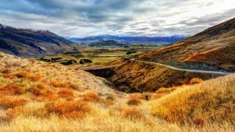 New zealand clouds hills landscapes mountains wallpaper