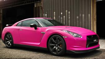 Nissan gt-r pink cars wallpaper