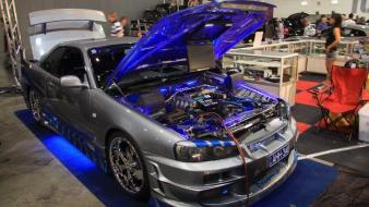 Nissan skyline r34 gt-r tuning motor wallpaper