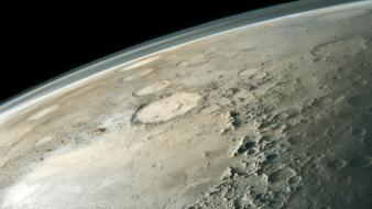 Outer space mars crater wallpaper
