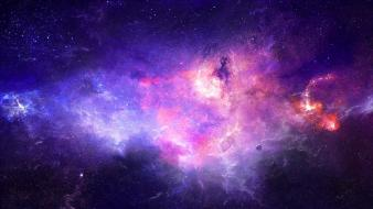 Outer space stars galaxies colors wallpaper