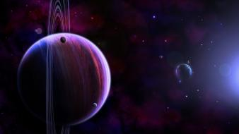 Outer space stars planets artwork wallpaper