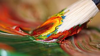 Paintings paint brush brushes brushstrokes Wallpaper