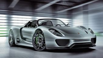 Porsche 918 spyder cars silver super wallpaper