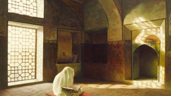 Retirement iranian art painting shahrad woman prayer wallpaper