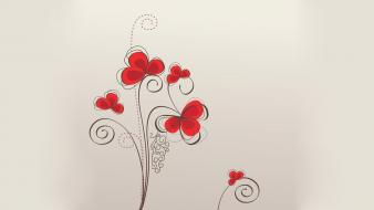 Retro vector floral graphics beige background wallpaper