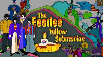 Rock music the beatles yellow submarine cover art Wallpaper