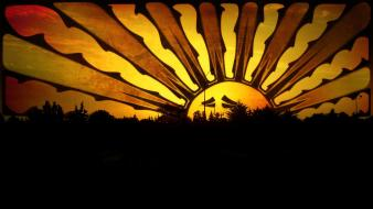 Sunset sun orange sad morocco sky wallpaper