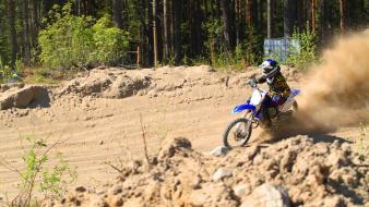 Sweden yamaha yz125 sand motorcross wallpaper