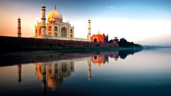 Taj mahal architecture buildings landscapes monumental Wallpaper