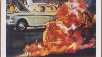 Thich quang duc vietnam war vietnamese fire historic wallpaper