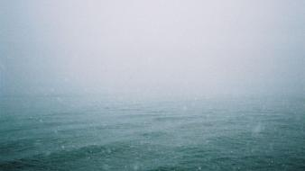 Water ocean snow rain fog mist waterscapes sea wallpaper