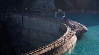 Water traffic dam lakes wallpaper
