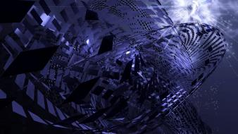 Abstract futuristic 3d wallpaper