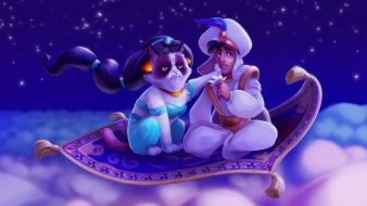 Aladdin grumpy cat tsaoshin artwork disney wallpaper