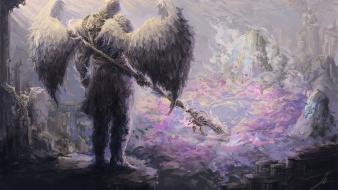 Angels artwork guardians paintings sceptres wallpaper