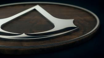 Assassins creed badge chrome plating cinema 4d wallpaper