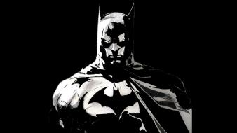 Batman monochrome artwork simple background black Wallpaper