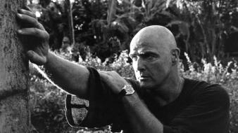 Black and white movies apocalypse now marlon brando Wallpaper