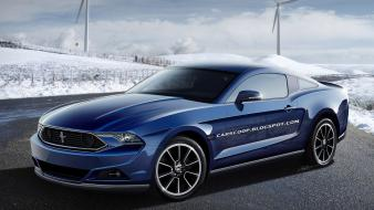 Blue cars ford mustang wallpaper