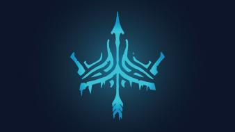 Blue tribal league of legends glow graphics wallpaper