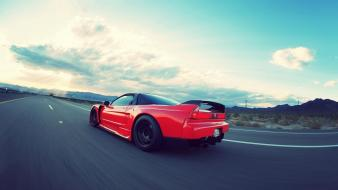Cars honda nsx roads acura speed skies wallpaper
