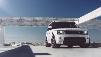 Cars range rover low-angle shot front angle view Wallpaper