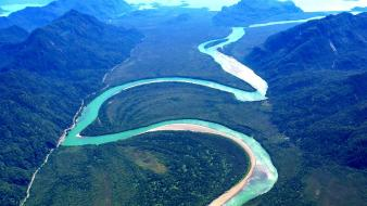 Chile palena river patagonia without dams forests green wallpaper