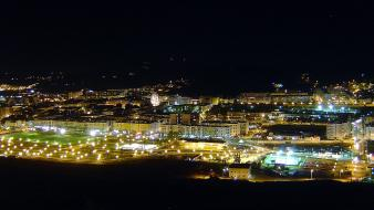 Cityscapes night lights portugal torres wallpaper