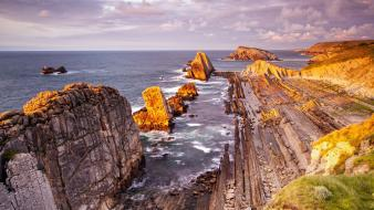 Cliffs spain hdr photography rock formations sea wallpaper