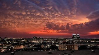 Clouds cityscapes dawn wallpaper