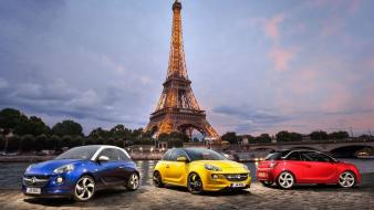 Eiffel tower paris cars Wallpaper