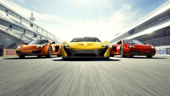 Family cars track mclaren mp4-12c p1 Wallpaper