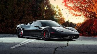 Ferrari black cars exotic supercars Wallpaper