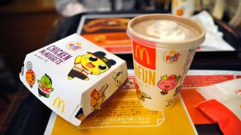 Food mcdonalds hamburgers milkshakes fastfood wallpaper
