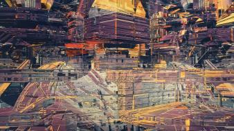 Futuristic buildings digital art artwork atelier olschinsky wallpaper