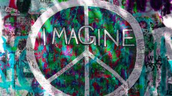 Graffiti imagine peace sign wallpaper