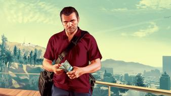 Gta v grand theft auto vinewood background michael wallpaper
