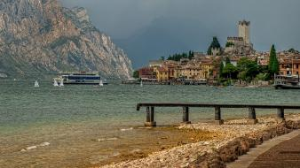 Italia italy malcesine lakes landscapes Wallpaper