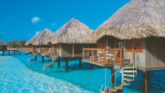 Landscapes nature french polynesia web tahiti wallpaper