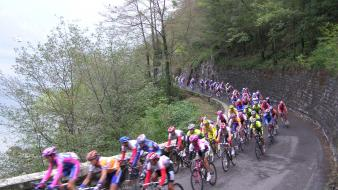 Landscapes sports cycling races cycles wallpaper