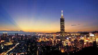Landscapes taipei 101 wallpaper