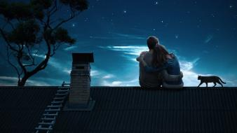 Love night romantic romance wallpaper