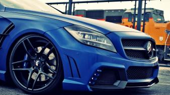 Mercedes benz cls 63 automobile blue cars wallpaper