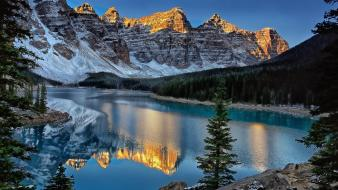Mountains landscapes canada alberta lakes moraine lake Wallpaper